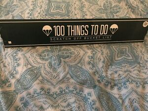 Gift Republic Scratch Off Bucket List 100 things to do - Brand New, Other