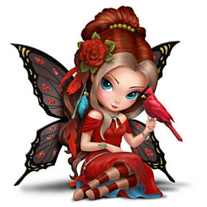 Jasmin Becket-Griffith Jbg Fairy Fesselnde Kardinal Figur Neu