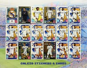 Topps Match Attax 2021/22 Full Real Madrid Team Set All 18 Cards + Foils Shiny