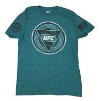 UFC Logo Sleeve Print MMA Mixed Martial Arts BJJ Muay Thai Boxing Men's T Shirt