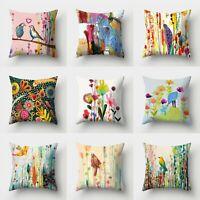 18inch Polyester Art Pillow Case Cover Cushion Waist Throw Sofa Home Decor