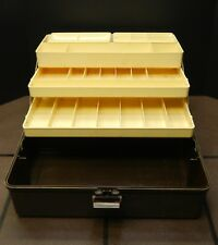 "Vintage Old Pal Woodstream Tackle Box PF 3400 3 trays 2 removable trays 16""x8x9"
