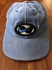 Vintage Nike Swoosh Blue Denim Snapback Hat CAP VTG