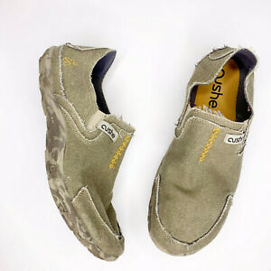 Cushe Size 12 Mens Surf Slippers Sand Tan Canvas Casual Shoes UM006683B