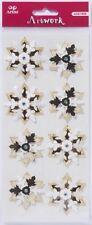 Gold Stars / Snowflakes - Artoz Artwork XL SA 3D Embellishments 185651-09