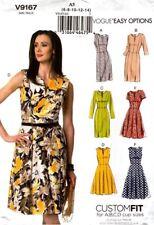 0d2654580b10 Vogue Sewing Pattern V9167 9167 Misses Dress Vogue Easy Options Size 6-14  NEW
