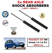 FOR PEUGEOT 307 SW Estate 1.4 1.6 2.0 2002->on REAR LEFT & RIGHT SHOCK ABSORBERS