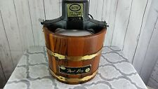 Vintage RCW Wood Bucket Ice Cream Maker 165A COMPLETE Frost King 5qt Paddle