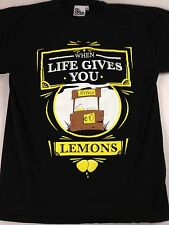 Sleep Is 4 Suckers T-Shirt When Life Gives You Lemons Mens Medium Lemonade Stand