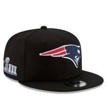 Black New England Patriots New Era Super Bowl LIII Patch 9Fifty snapback Hat