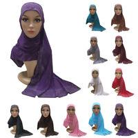 Muslim Women Instant Hijab Head Wrap Islamic Headscarf Shawl One Piece Amira Cap