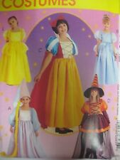 McCalls SNOW WHITE DISNEY PRINCESS COSTUME Sewing Pattern Child Girl RAPUNZEL