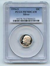 1994 S 10C Silver Roosevelt Dime Proof PCGS PR70DCAM