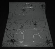 95523-5-) 8 Rollen moderne Vliestapeten Blumen Design schwarz mit Glanz