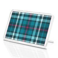 Scottish Teal Tartan Classic Fridge Magnet - Kilt Scotland Material Gift #12328