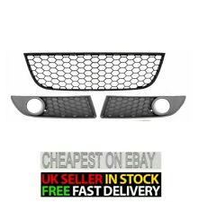 VW POLO 9N3 2005 - 2009 GTI FRONT BUMPER LOWER HONEYCOMB FOG LIGHTS GRILLES SET