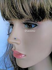 2.2mm 100% Natural Treated Blue Diamond 14k Nose Pin Lip Labret Screw Ring Stud