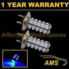 2X H7 BLUE 60 LED FRONT HEADLIGHT HEADLAMP LIGHT BULBS HIGH POWER XENON HL500304