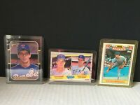 Lot of 3 Kevin Brown Cards - 1987 Donruss #627 Topps 1989 rookie card Fleer #641