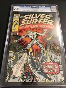 Silver Surfer #18 (Sep 1970 Marvel) | CGC 7.0 Grade | Kirby art~ Final Issue 🔑