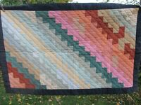 Beautiful, RARE Vintage AMISH STYLE Patchwork Quilted Wall Hanging, Quilt