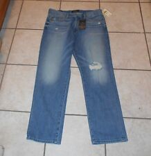 """NWT Men's 34-32 LUCKY BRAND """"410 ATHLETIC FIT"""" SLIM LEG DISTRESS JEANS MSRP $99"""