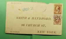 DR WHO 1886 RPO? FANCY CANCEL BLUE TO NY POSTAGE DUE  f52533