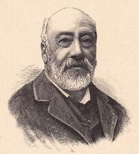 Portrait Gustave Nadaud Roubaix Poésie Chansonnier