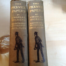 DICKENS-POSTHUMOUS PAPERS OF THE PICKWICK CLUB  2 VOL 1910 SUPERB ALDIN PLATES