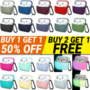 For Apple AirPods Pro 3 Case Silicone Protector Shockproof Full Cover + Keychain