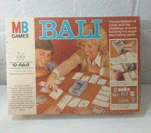 BALI CARD GAME BY MB GAMES 1978 - COMPLETE VGC - WORD BUILDING FUN VINTAGE RARE