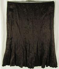 TAIFUN Seidenrock Crinkle Rock Gr. DE 46 braun Skirt Jupe 55% Seide + Baumwolle