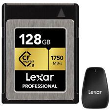 Lexar 128GB Profesional cfexpress (Cfx) Tipo B + Tarjeta de Memoria Lexar Lector de Tarjetas