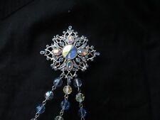 Nwot #1067, St. John Knit Pin Light Blue Crystal silver Tone Brooch