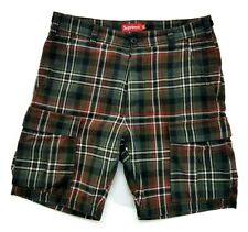 Supreme Brown Plaid Cargo Shorts Size 30 Mens SS17
