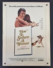 Original 1974 HOW TO SEDUCE A WOMAN 30 x 40 Theatre Movie Poster Luther Lucas