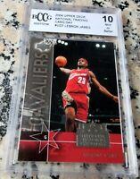 LEBRON JAMES 2003 2004 UD #1 Draft Pick Rookie Card RC BGS BCCG 10 MVP Lakers $$