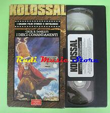 film VHS cartonata I DIECI COMANDAMENTI KOLOSSAL Cecil d Demille (F44)no dvd