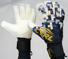 2019 CTRL PRO Roll Cut Fingersave Soccer Goalkeeper Goalie Gloves White Black 9