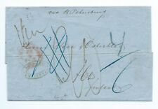 THE NETHERLANDS: Cover Amsterdam to Finland 1856, postage due notations.
