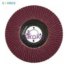 "Flap Sanding Discs 80 Grit Aluminum Oxide 4.5"" Angle Grinder 115mm"