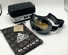 Native Eyewear Backbowl™ Black Rip Snow Goggles, Bronze w/ Silver Mirror, Large