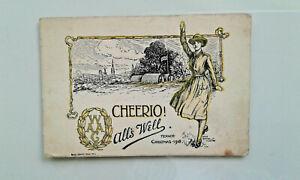 WW1 WAAC Postcard - Censor passed Dec.1918