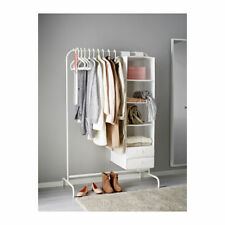 IKEA Mulig Clothes Rail White Rack Coat Rail Stand Free Standing 99 x 46 cm