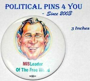 2004 anti GEORGE W. BUSH cheney campaign pin pinback button president political