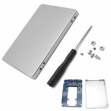 "mSATA SSD mini pci-e to 2.5"" SATA Adapter with Silver External Case Aluminium"