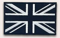 Union Jack Black Flag Embroidery Sew On Iron On Patch Badge FREE UK POST