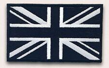 Union Jack Black Flag Embroidery Sew On Iron On Patch Badge FREE UK POST