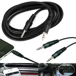 BLACK 1M 3.5MM JACK AUX AUXILIARY AUDIO STEREO CABLE LEAD WIRE CORD FOR PHONES