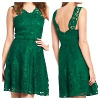 V by Very Plus Size 20 Green Lace Skater DRESS Xmas Evening Party Occasion £74